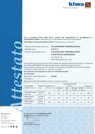 Test Report - CLS-P 33 - 89/106/CEE